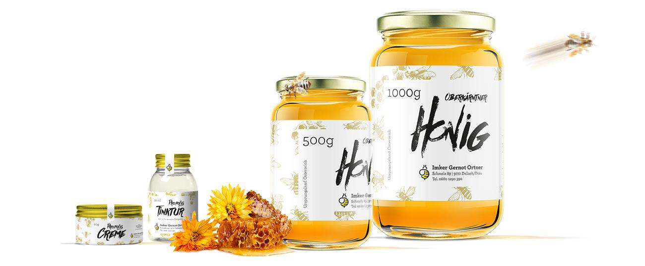 Honig Glass Mockup Anordnung